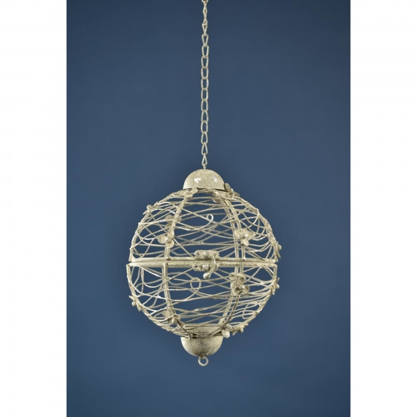 Metal hanging ball with Candle Holder