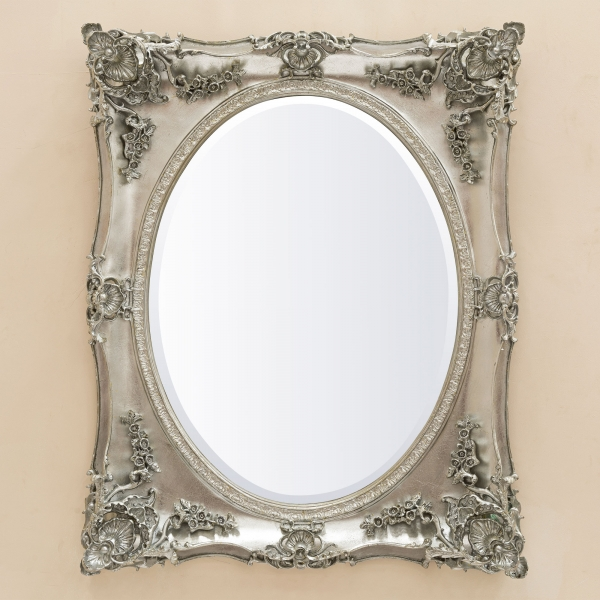Beth Platinum Overmantle Mirror