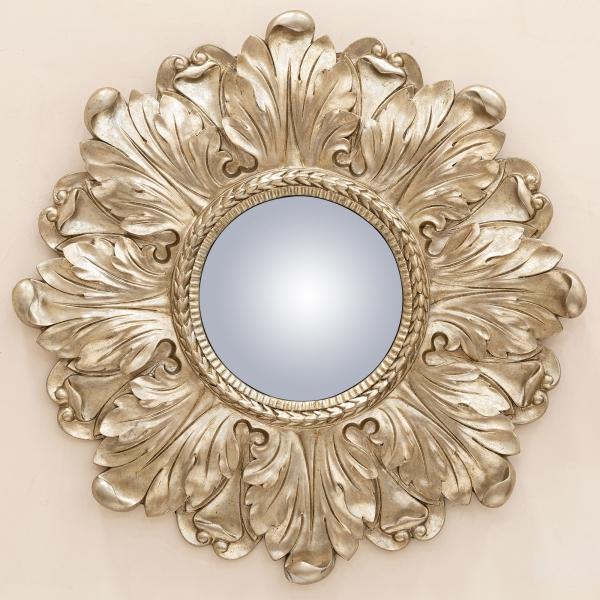 Lila Champagne Floral Convex Mirror