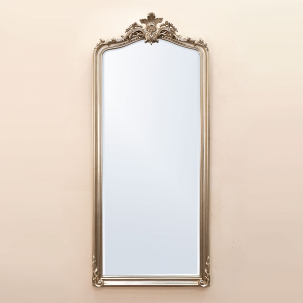 Patrica Champagne Floor Mirror