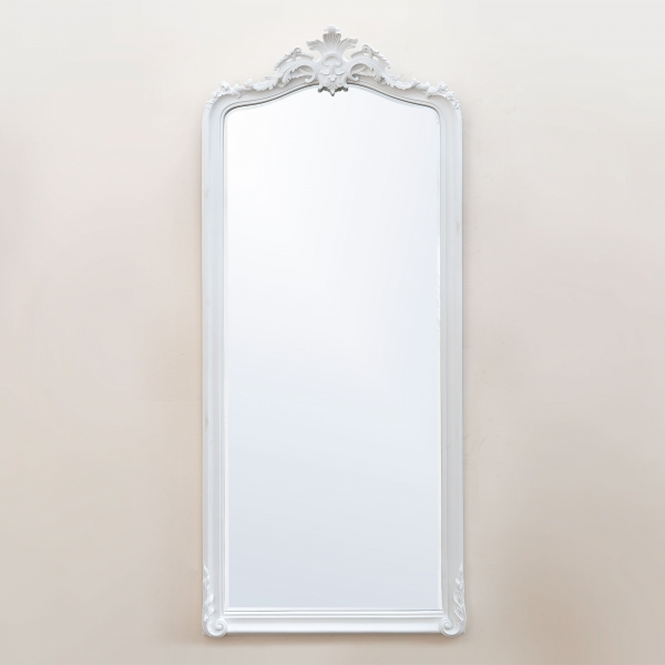 Patrica White Floor Mirror