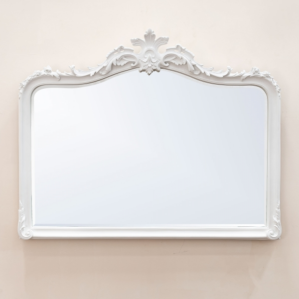 Patrica White Overmantle Mirror