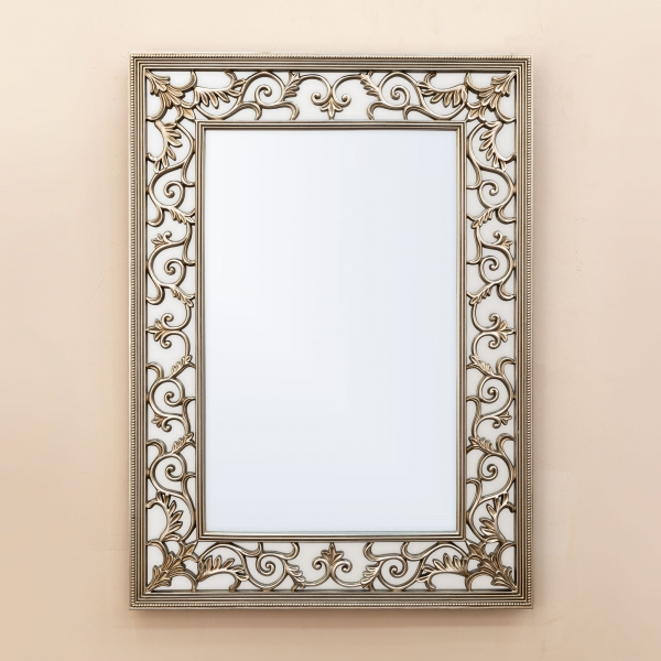 Rococo Champagne Overmantle Mirror