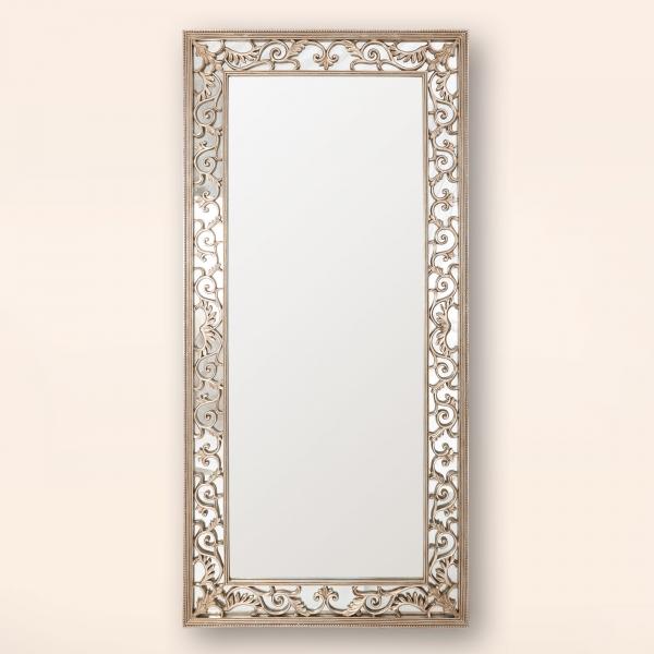 Rococo Champagne Floor Mirror