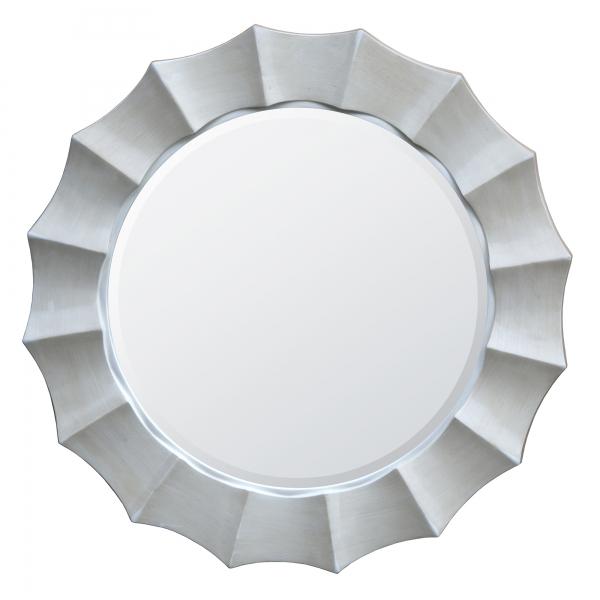 Sunburst Wall Mirror - Antique White