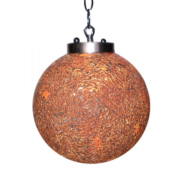 Sparkle Globe Ceiling Light - Orange