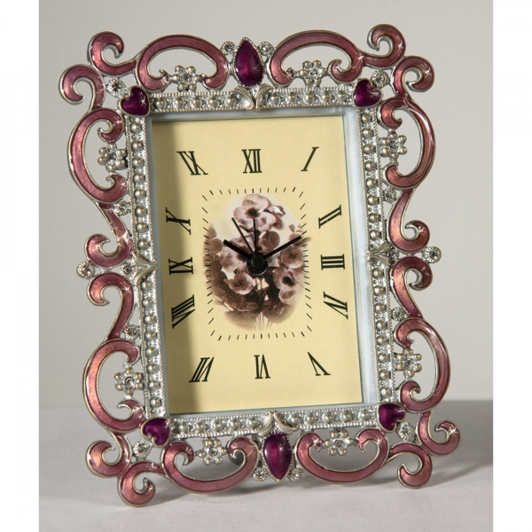 Pink Ornate Clock
