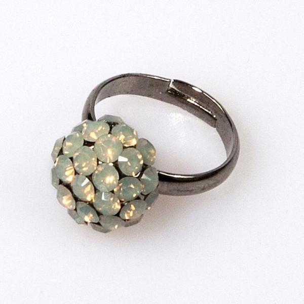 Grey Opal Mini Ball Ring