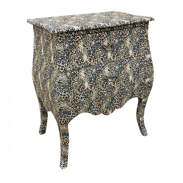 Grand Safari Leopard Bedside Table