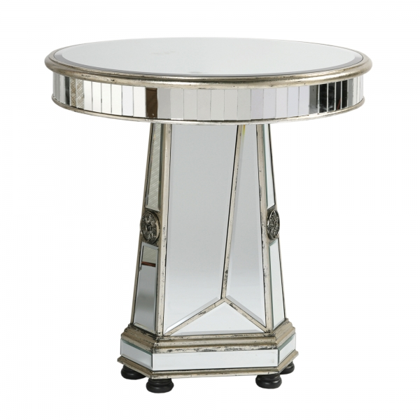 Vintage Venezia Mirrored Dining Table - Antique Silver