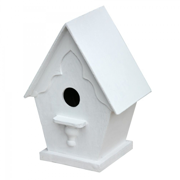 Bird Wooden Nestbox - White