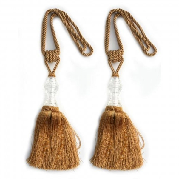 Gold Tassel with Crystal - pair