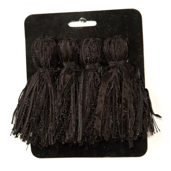 Black Tassel  - set of 4 pcs