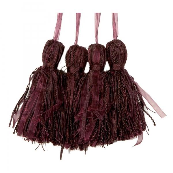 Purple Tassel  - set of 4 pcs