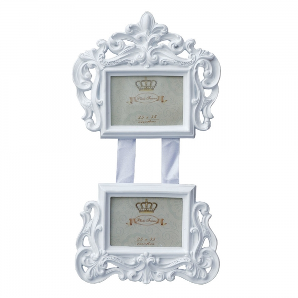 Double Picture Frame White