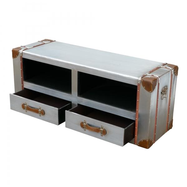 Industrial Aluminium TV Media Unit - Silver