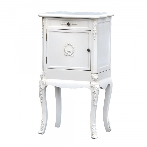 Boudoir Provence Bedside Table - Antique White