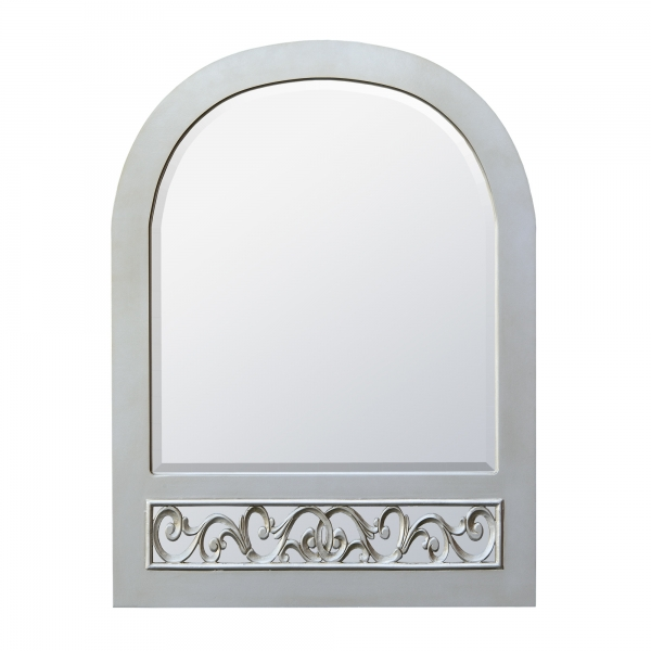 Paisley Bevelled Mirror - Silver