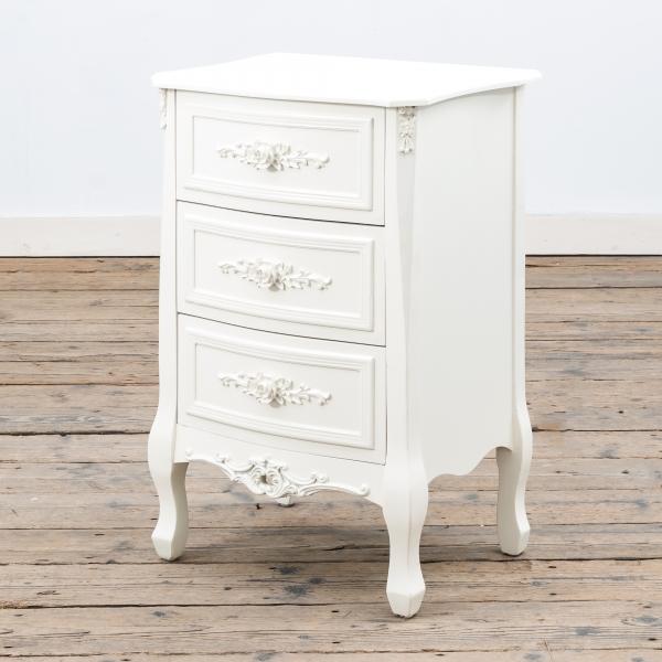 Rose White Bedside Table - Soft White