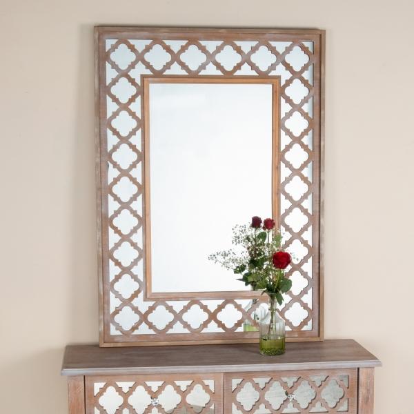 Wood Lattice Mirror