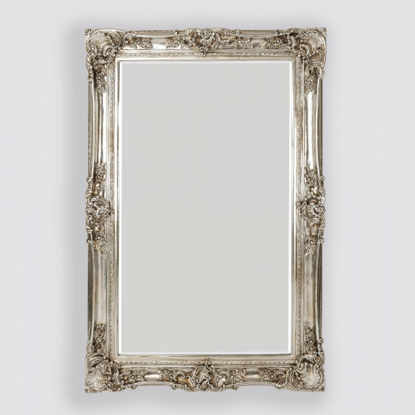 Leonardo Antique Style Silver Large Floor Standing Decorative Wall Mirror