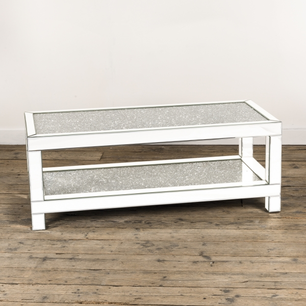 Crushed Diamond Mirrored Coffee Table