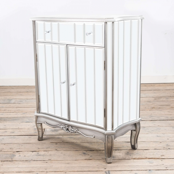 Annabelle Mirrored Sideboard Cabinet - Silver
