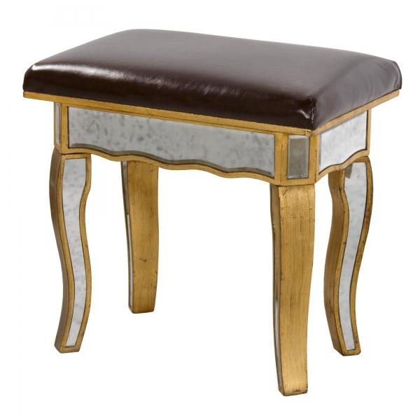 Vintage Venezia Dressing Table Stool - Antique Gold