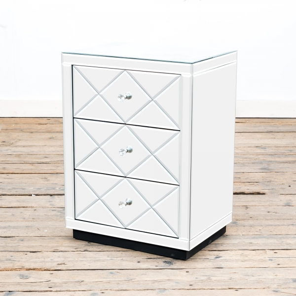 Diamant Mirrored Bedside Table