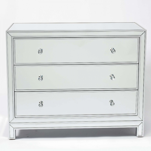 Chauteaneuf Mirrored Chest of 3 Drawers