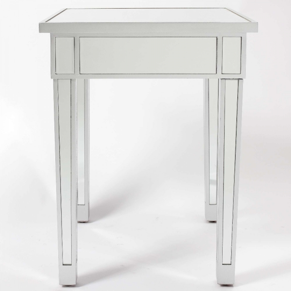 Chauteaneuf Square Mirrored Side Table