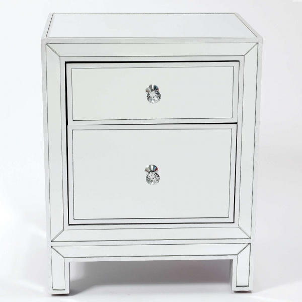 Chauteaneuf Mirrored Bedside Table