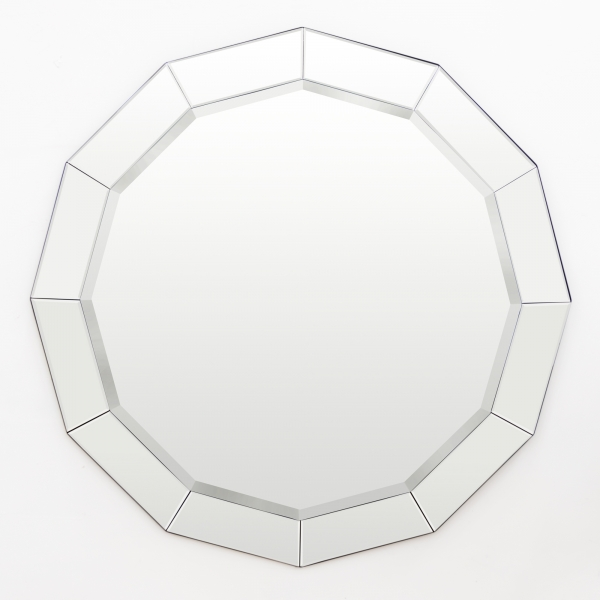 Venetian Dodecagon Mirror with Mirrored Bezels