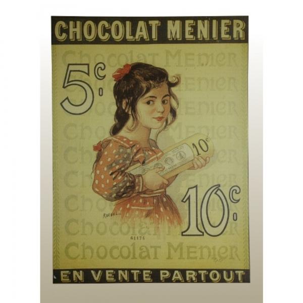 Canvas Print, Chocolat Menier, Partout
