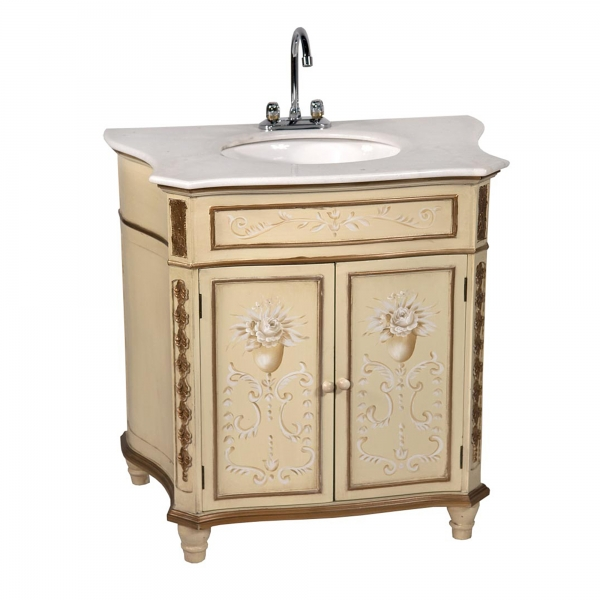 Rosasea Sink with Cabinet - Cream
