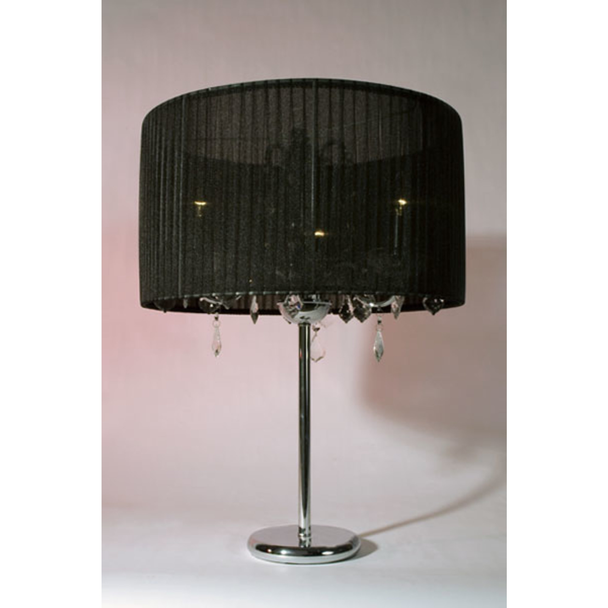 Lucienne 3 Arm Table Lamp - Black and Chrome