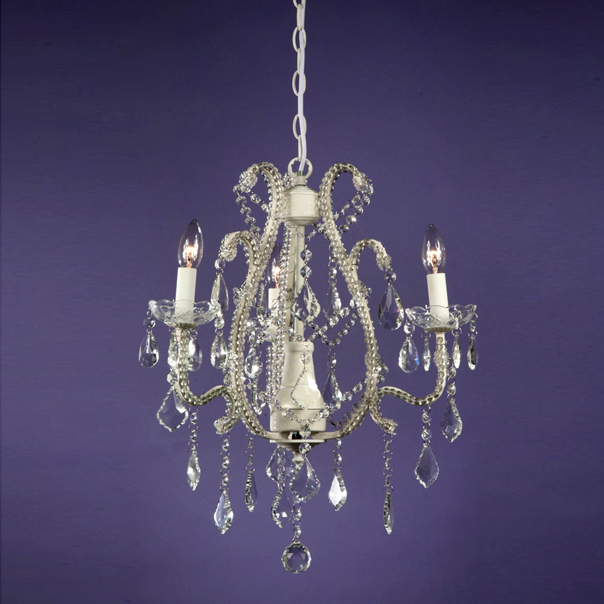 Marie Therese 3 Light Chandelier - Cream Crack