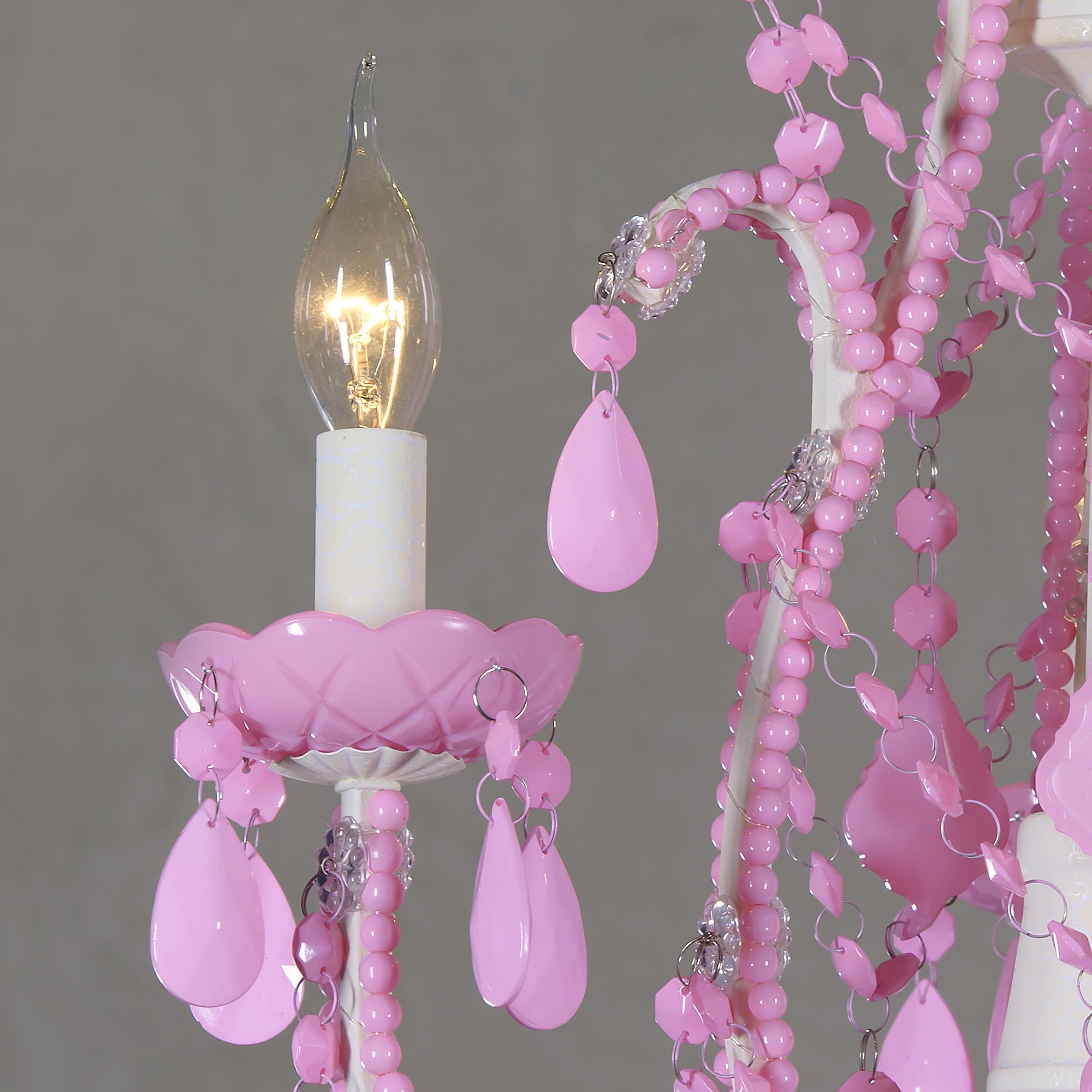 Marie Therese 3 Light Chandelier - Pink