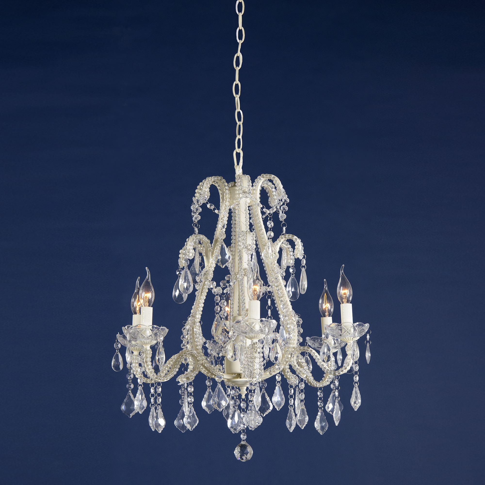 Marie Therese 6 Light Chandelier - Cream Crack
