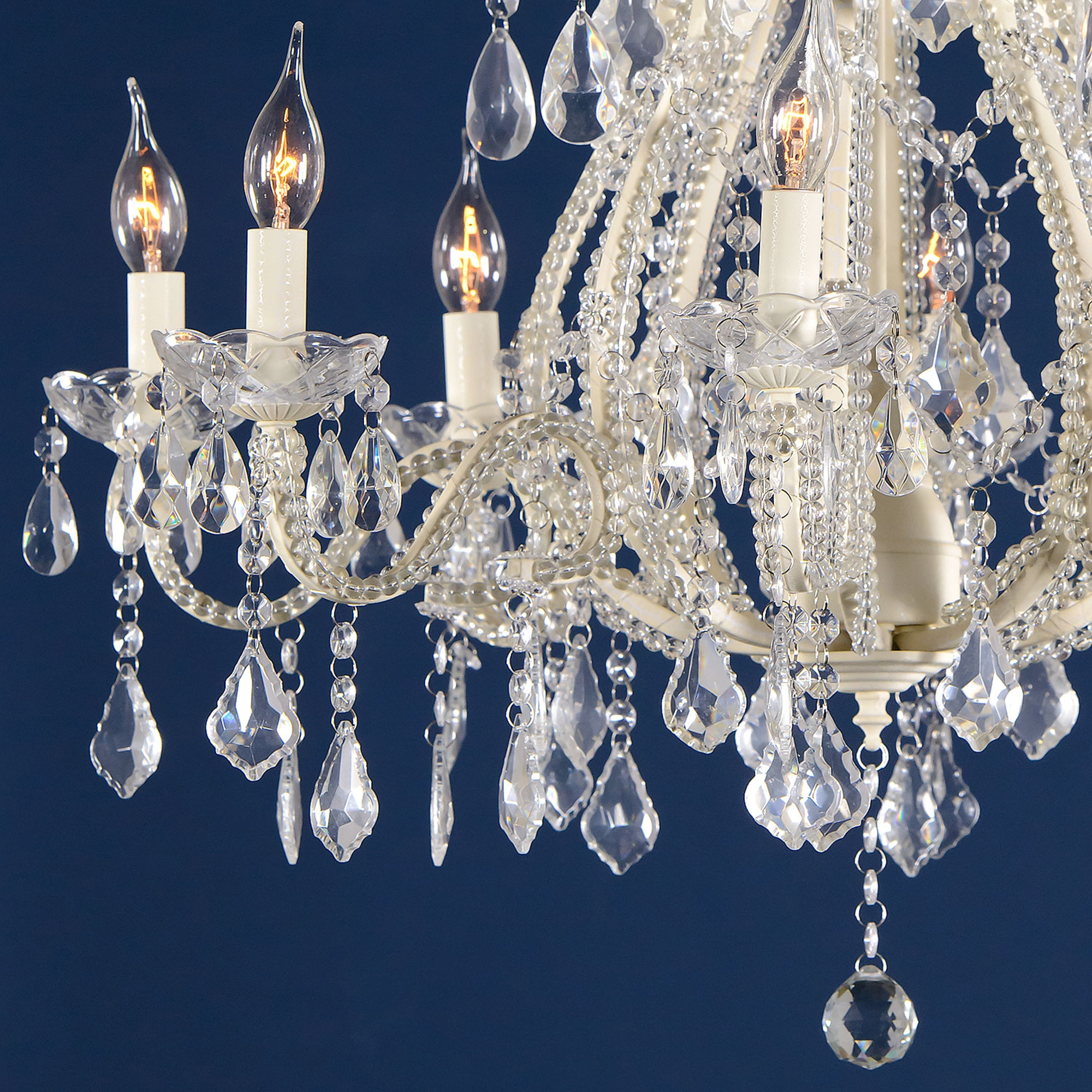 Marie Therese 8 Light Chandelier - Cream