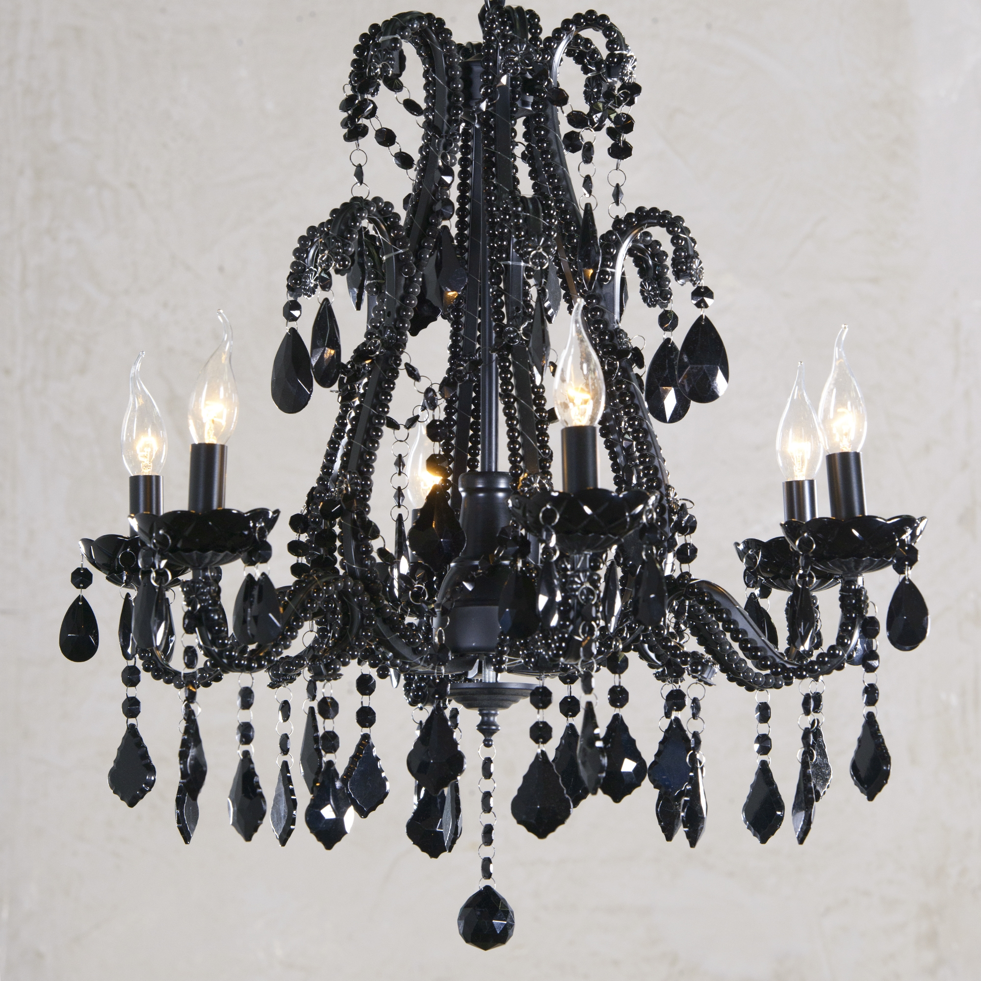 Marie Therese 6 Light Chandelier - Black