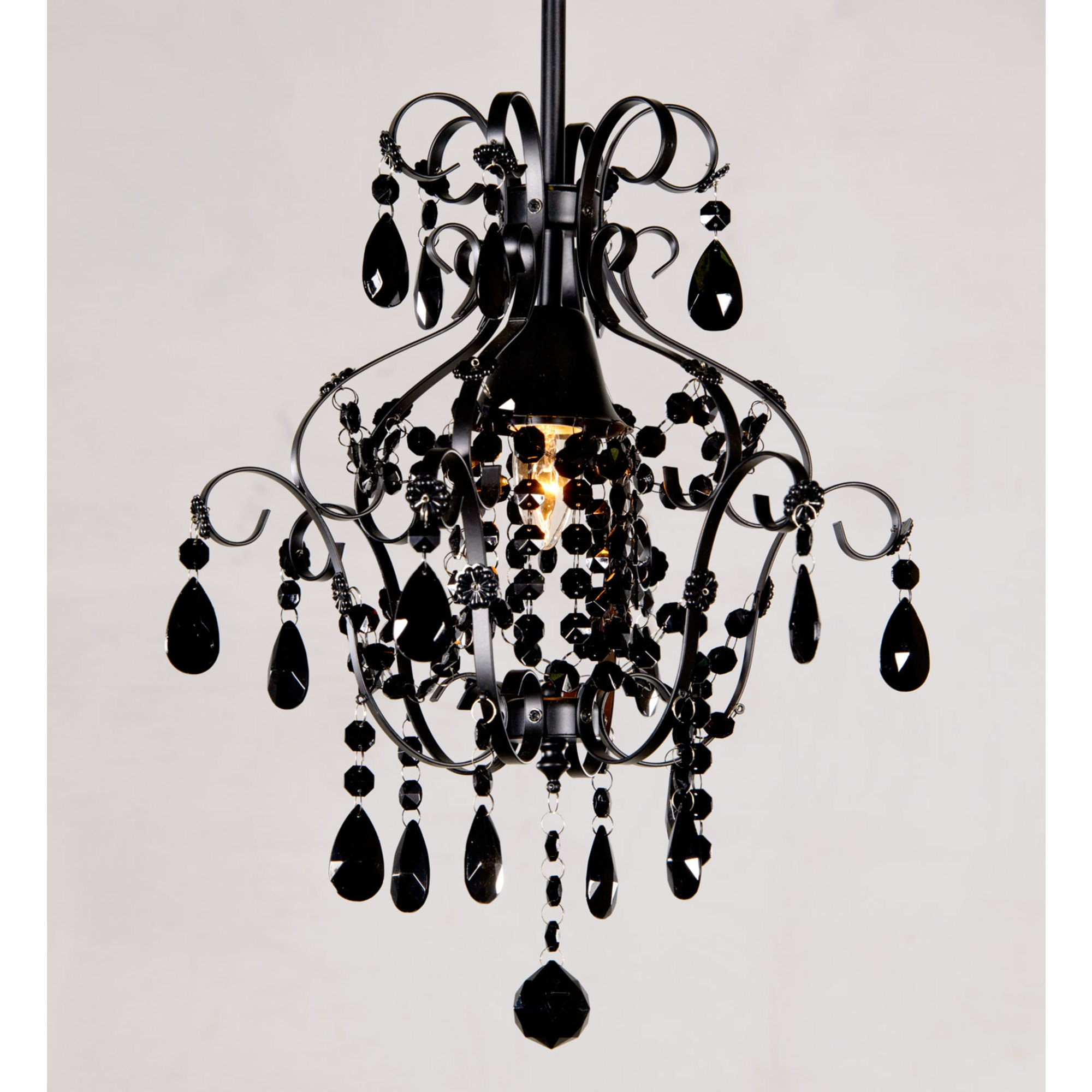 Marie Therese Single Light Chandelier - Black