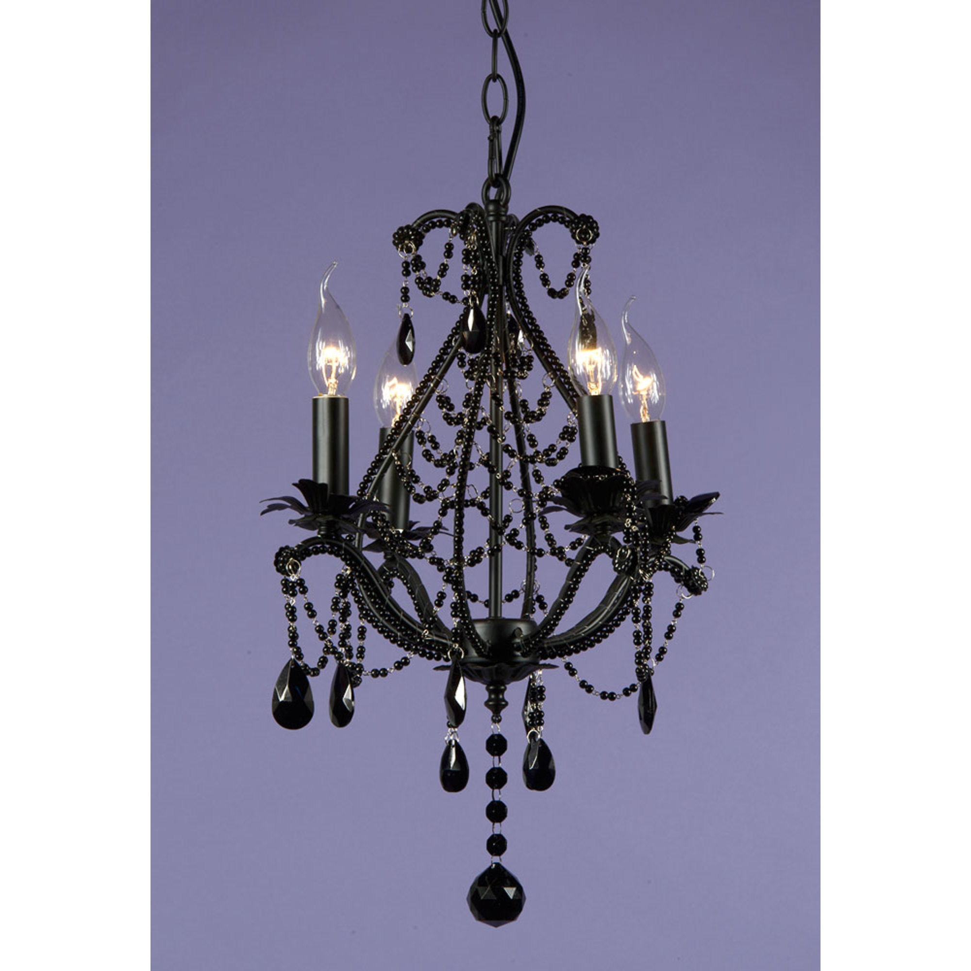 Marie Therese 4 Light Chandelier - Black