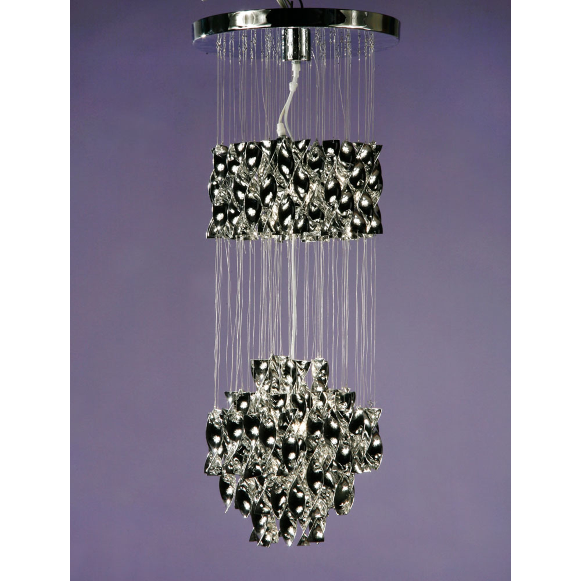 Ribbon Pendant Ceiling Light - Chrome