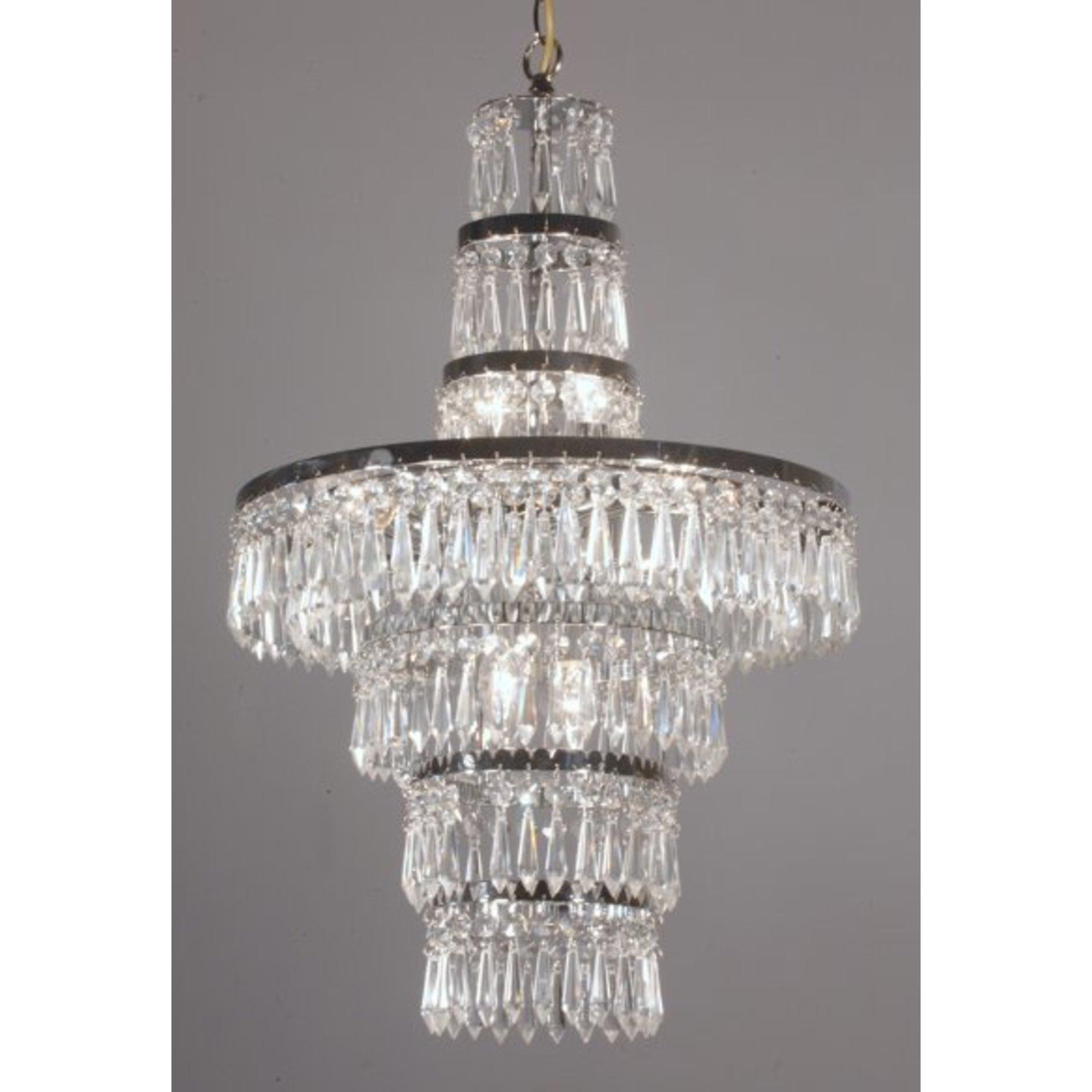 Crystal 3 Light Ceiling Light - Chrome