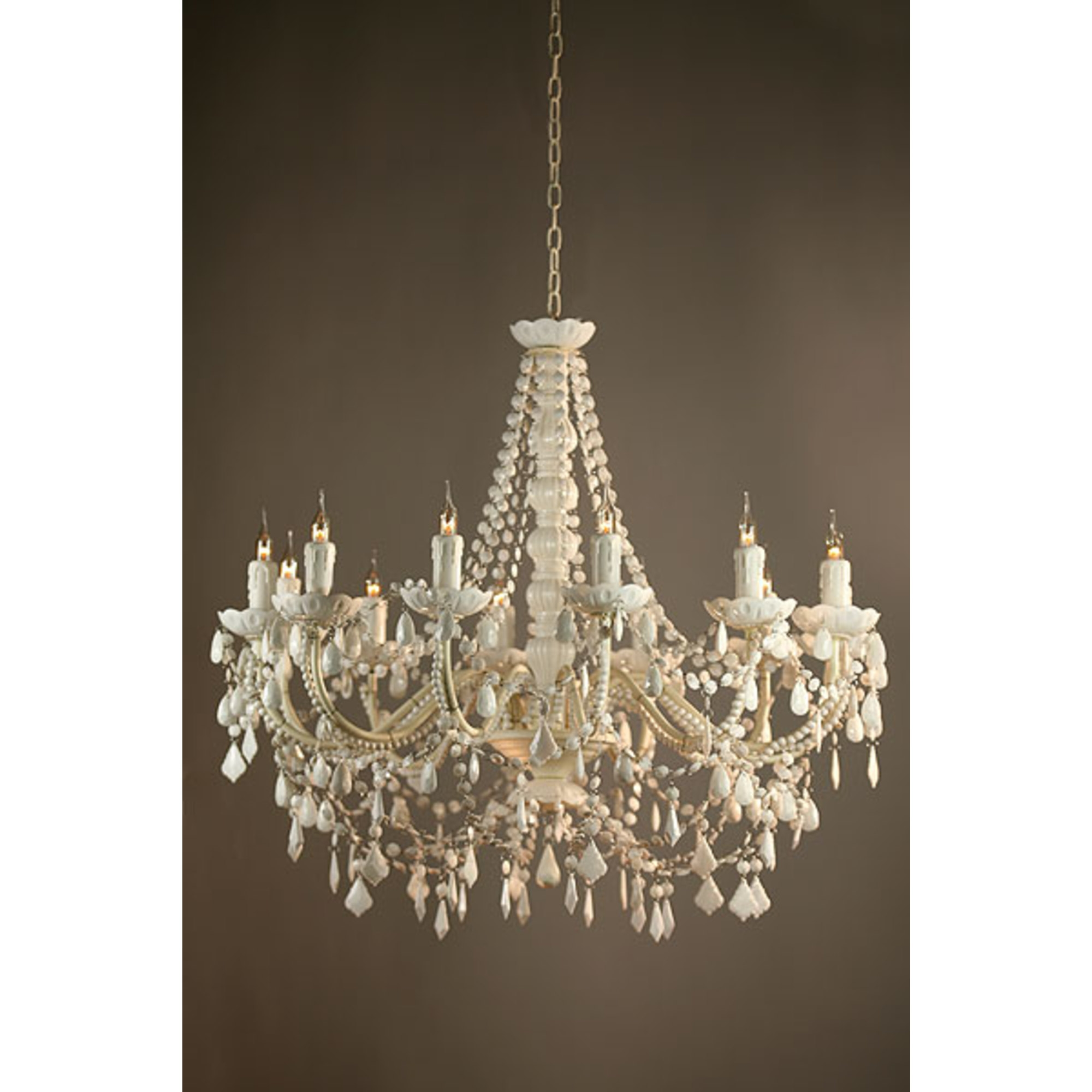 Suzanne 12 Light Chandelier - White