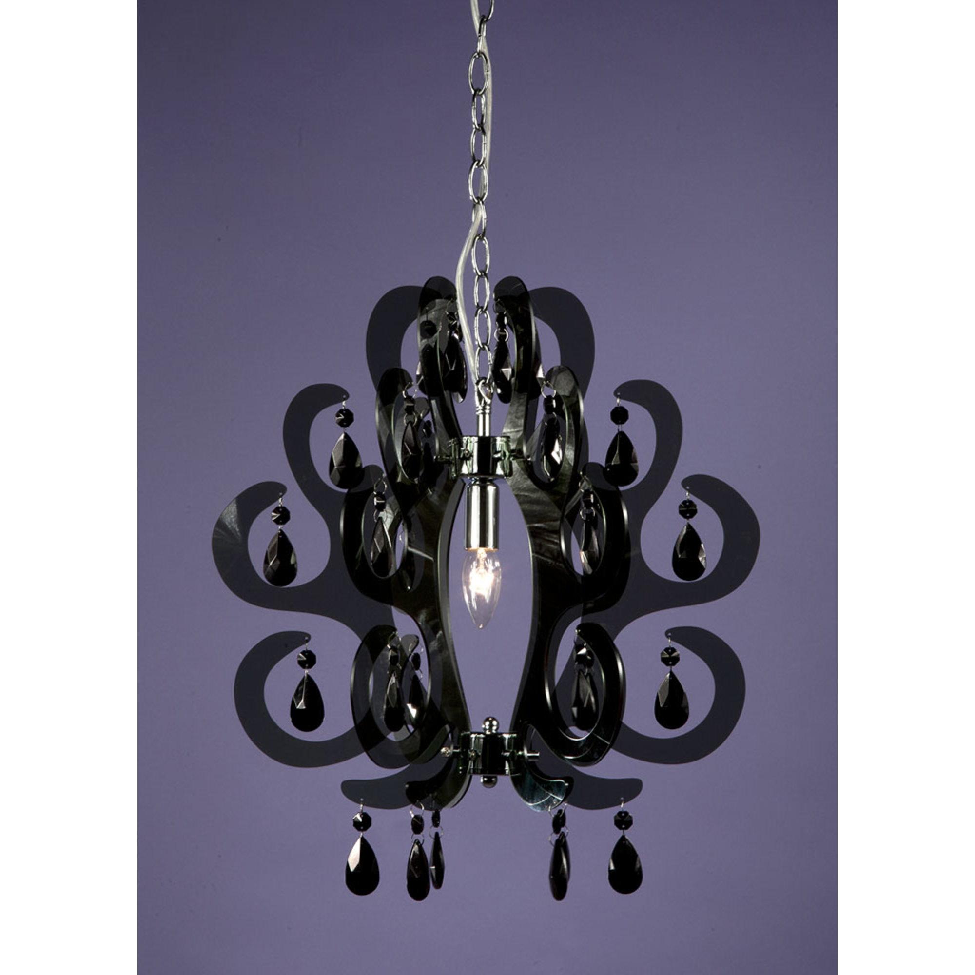 Curl Acrylic Ceiling Light - Black