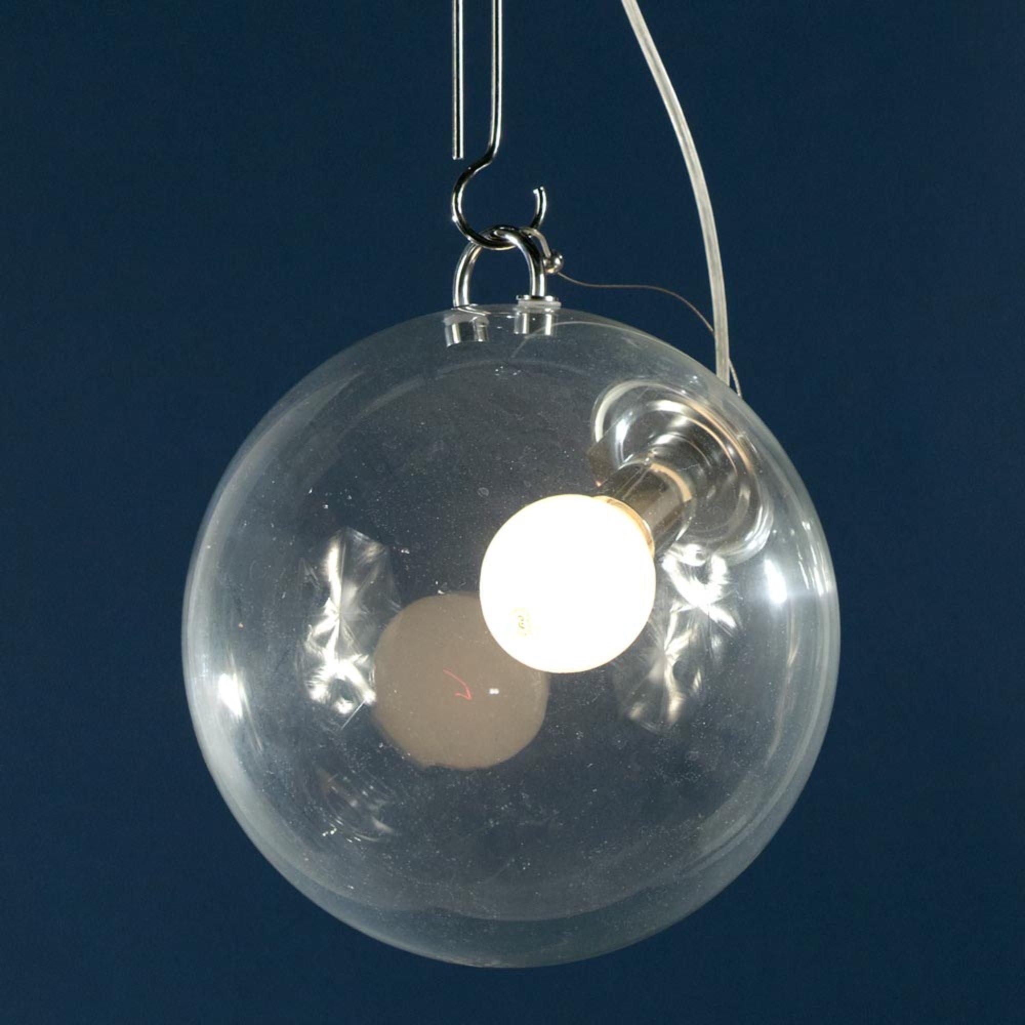 Glass Sphere Ceiling Light - Silver