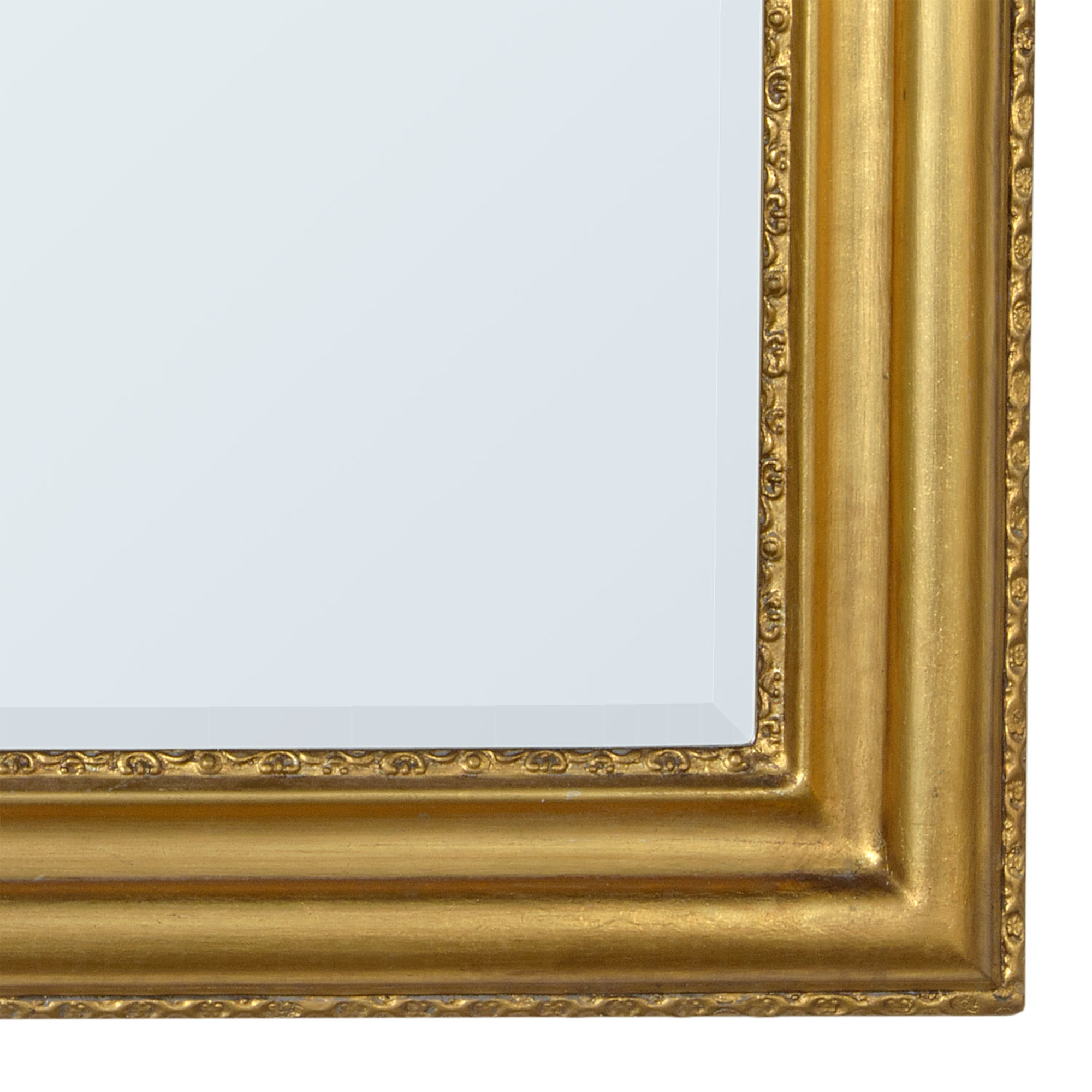 Louis Philippe Gold Gilt Leaf Bevelled Overmantle Mirror