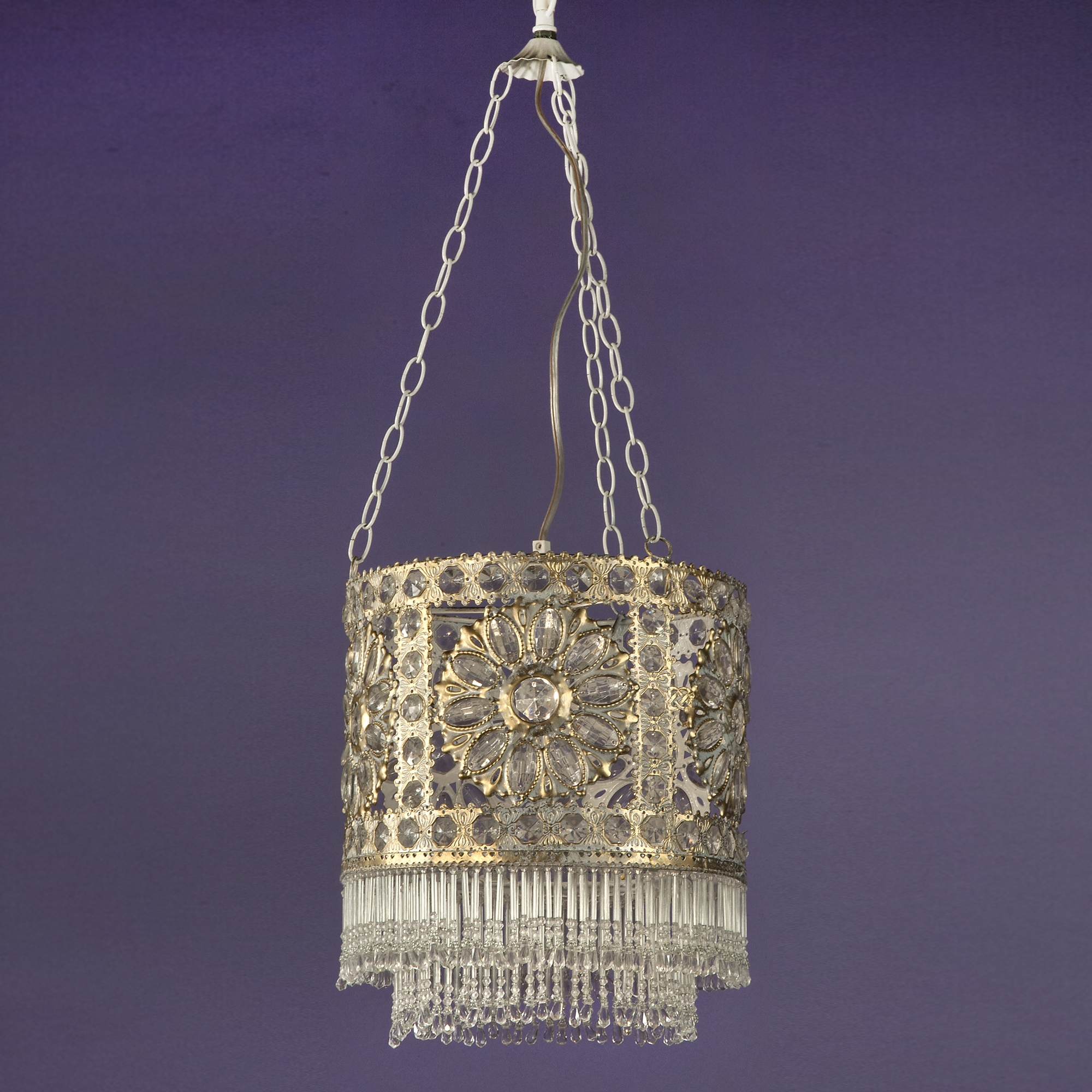 Jewelled Ceiling Light - Antique White